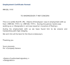 Service Certificate Format Service Certificate From Employer Sample Magdalene Project Org