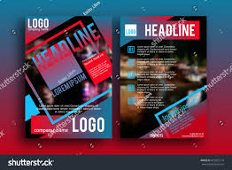 Magazine Front Page Design Online Brochure Design Template Vector Magazine Front Stock Vector