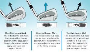 Golf Club Fitting Chart Lie Angle Ping Lie Chart Static