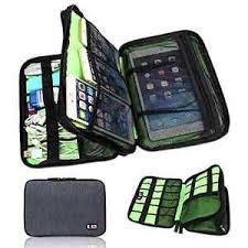 Image is loading NEW-Universal-Cable-Organizer-Electronics-Accessories-Case- USB-