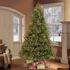 Home Accents Holiday 9 Ft Prelit Full Wesley Spruce Quickset 12 Ft Fake Christmas Tree