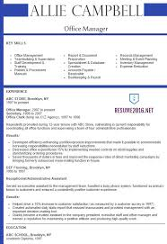 Resume Examples 2016 Office Manager Resume 60 Best samples 24