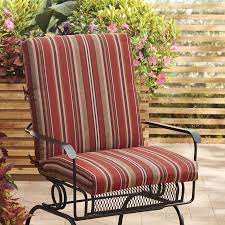 allen roth neverwet piece outdoor reversible high back patio chair cushion tolix seat pad chaise