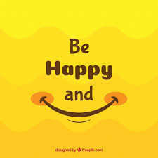 smile background in yellow tones free vector