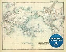 Digital Old World Map Printable Download Vintage World Map