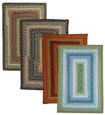 2 x 3 rectangular cotton blend braided rug