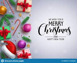 Christmas Vector Background Template Merry Christmas