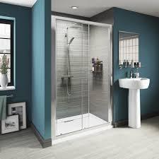 contemporary sliding shower doors. modern home depot glass sliding shower doors with stainless frame grey art stripes motif wall design contemporary