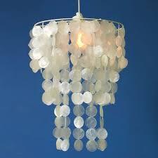 image of new capiz pendant chandelier
