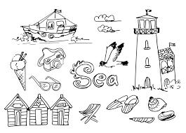 Summer Holidays Doodles Vector Illustration Royalty Free Stock