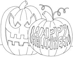 Small Picture Scary Halloween Coloring Page For Kids Halloween Halloween