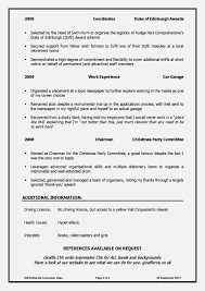 resume for school leavers converza co