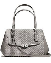 COACH MADISON SMALL MADELINE EAST WEST SATCHEL IN OP ART NEEDLEPOINT FABRIC  - Coach Handbags