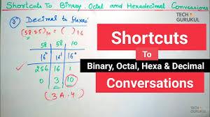 Binary Octal Hexadecimal Chart 12 Shortcuts To Binary Octal Hexadecimal And Decimal Conversions Digital Electronics