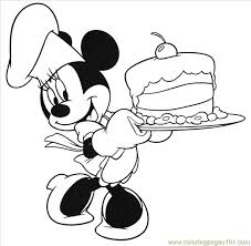 Small Picture Mouse Birthday Cake Coloring Page Free Mickey Mouse Coloring