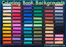 coloring backgrounds with chalk pastels