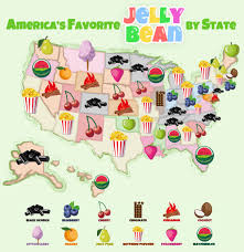 Jelly Bean Colour Chart Jelly Bean Flavors Ranked By State Interactive Map