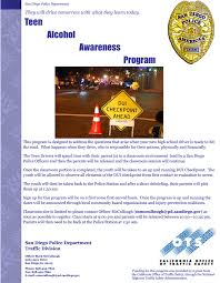 california dui checkpoint flyer teen alcohol awareness program registration ocean beach san diego