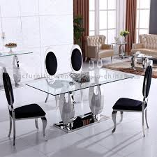 hot glass dining table sets for 6 seater