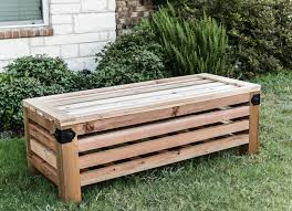 diy garden table plans. how to build an outdoor storage ottoman with simpson strong-tie - free building plans diy garden table