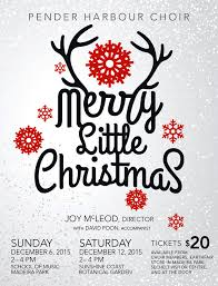 Christmas Concert Poster Merry Little Christmas Pender Harbour Music Society