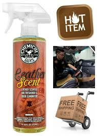 chemical guys air10216 leather scent premium air freshener and odor eliminator for