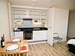 Great Kitchen For Small Space Used Here In A Serviced Apartment But Could Work In A Studio Bedsit Hotel Room Or An Bedsit Small Space Kitchen Small Kitchen