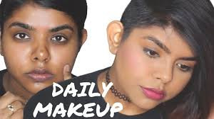 everyday makeup for dusky dark indian skin