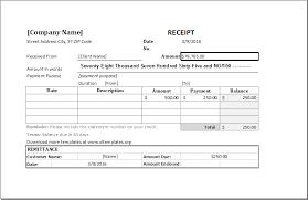 Microsoft Excel Receipt Template Cash Receipt Template For Ms Excel