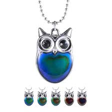 Us 1 21 20 Off Trendy Animal Mood Tracker Necklace Fashion Jewelry Statement Women Necklace Change Color Charm Long Necklaces Owl Pendants In