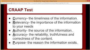 Craap Test The Craap Test Overview