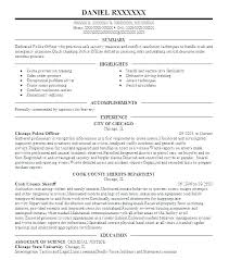 3 L Police Resume Samples Examples No Experience Mmventures Co