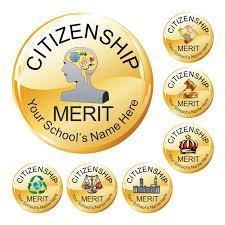 Citizenship Award Stickers Metallic Gold