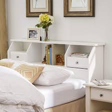 absolutely wooden headboard with shelf com revere storage queen full size bookcase drawer wood white