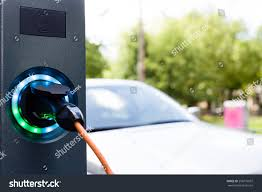 Car Battery Charger Indicator Lights Electrical Car Battery Charger Socket Load Royalty Free