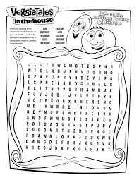 Small Picture Free Veggie Tales Word Search Printable Coloring Pages Crafts