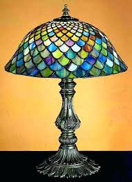 stained glass shades features bell shade pattern versatile accent lamp to complement any color or style