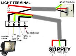 flood light wiring diagram how to wire a floodlight to a switch wiring a pir sensor to a light at Security Light Wiring Diagram