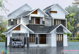 2145 sq ft sloped roof house plan