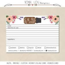Printable Essential Oil Sample Cards - Hand Illustrated Design ...