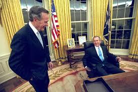 george bush oval office. George HW Bush And W George Bush Oval Office E