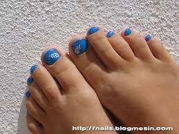 Toe Nail Designs Light Blue Nails switc chevron toe nail art