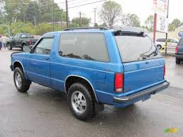 1991 Bright Blue Metallic Chevrolet S10 Blazer Tahoe 4x4 #37175095 ...