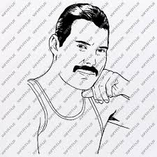 Free queen freddie mercury vector download in ai, svg, eps and cdr. Products Tagged Freddie Mercury Svg File Sofvintaje