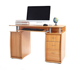 home office drawers. Exellent Home Home Office Computer Desk Laptop PC Study Table With 3 Drawers Furniture  Wooden Intended Home Office Drawers