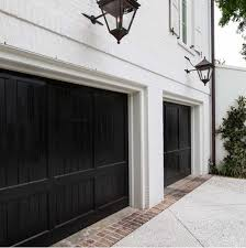 black garage doors monochrome traditional