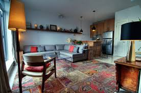 Interior:Modern Rustic Moroccan Style Apartment Interior Design With Classy  Rugs And Wooden Cabinet Also