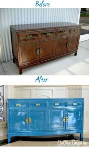 lacquered furniture. lacquered credenza before u0026 after sherwin williams loch blue inspo furniture c