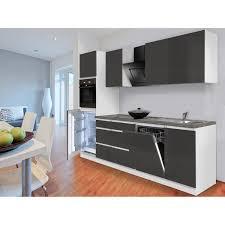Respekta Küchenzeile GLRP280HWG Grifflos 280 cm Grau Hochglanz