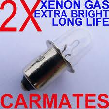 dewalt flashlight 18v. 2 flashlight torch bulbs 18v for bosch panasonic dewalt metabo xenon gas camping dewalt 18v w